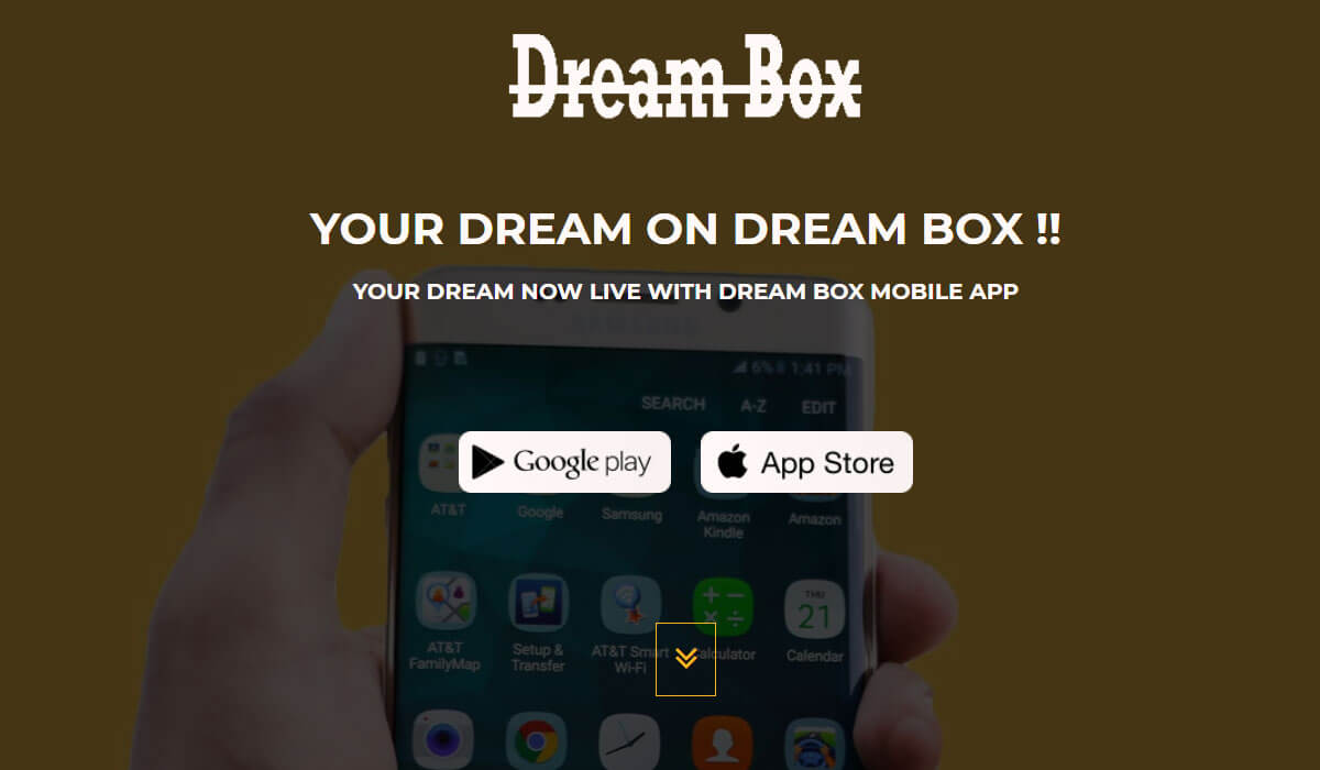 Dream Box Free App Landing Page