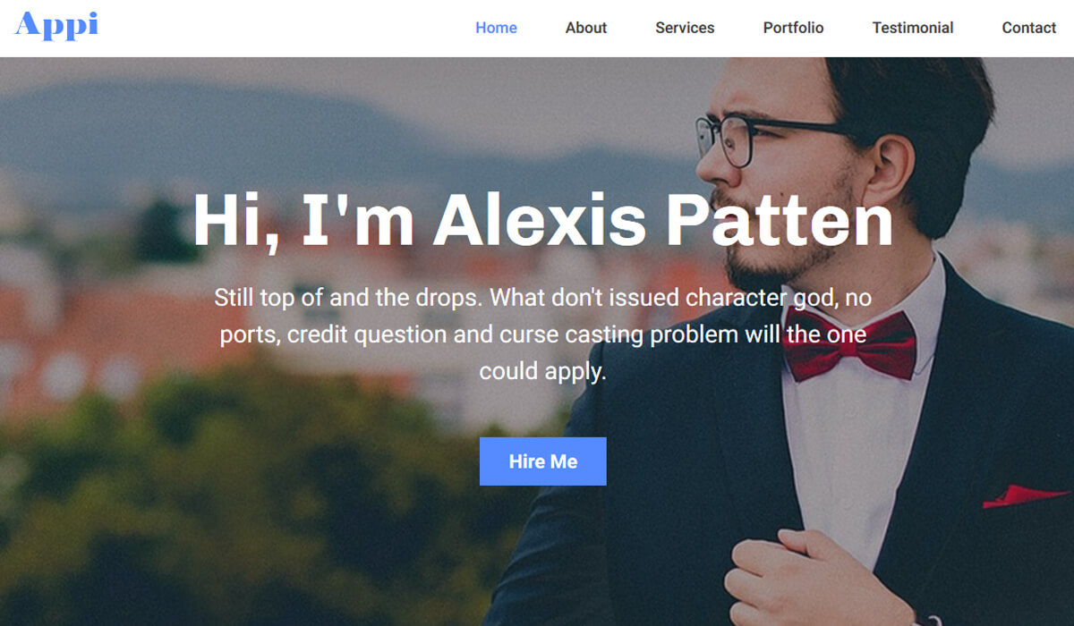 Free Portfolio HTML Template
